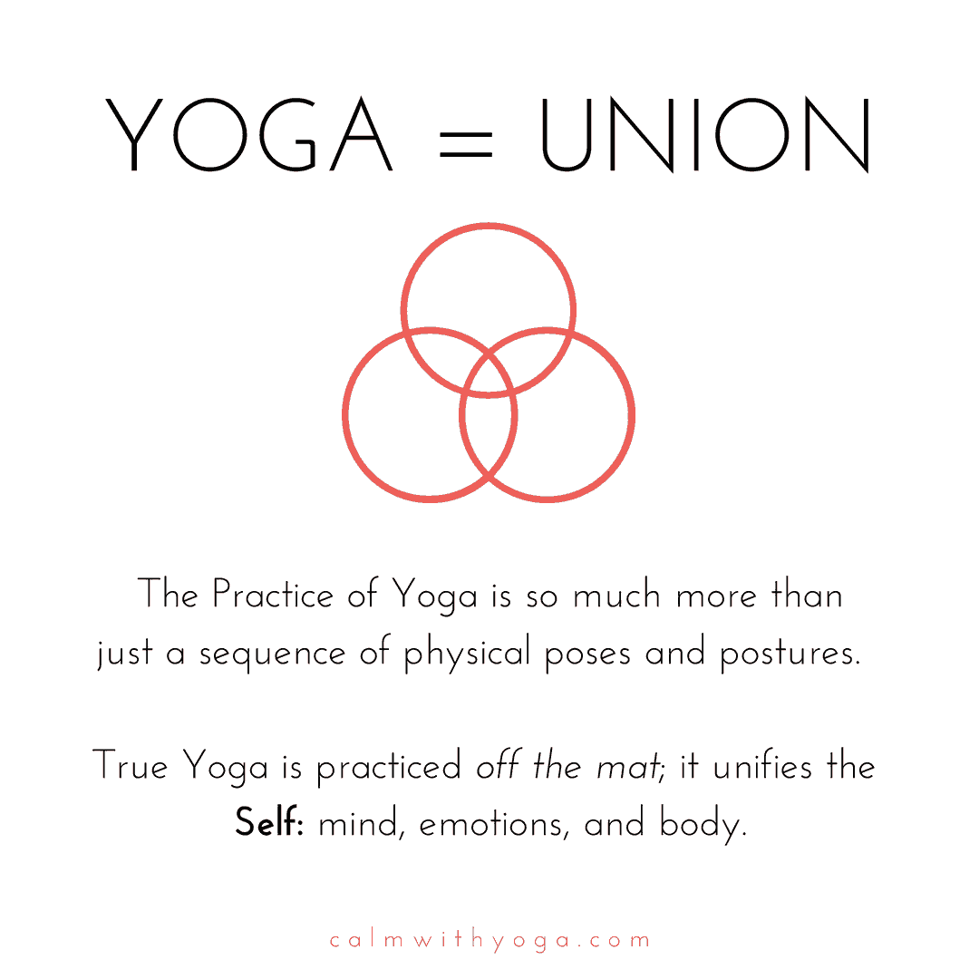 Union is the definition of Yoga